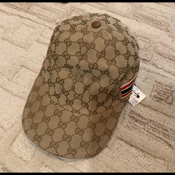 b27b617d Gucci Accessories | Nwt Authentic Classic Woven Gg Baseball Hat ...